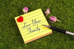 Love your family note royalty free stock photography