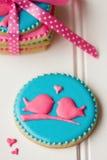Lovebird ciastka Zdjęcia Stock