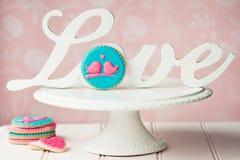 Lovebird ciastka Fotografia Royalty Free