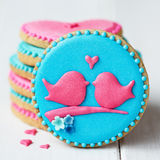 Lovebird cookies Royalty Free Stock Images