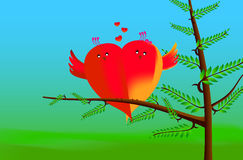 Lovebirds. These is created in illustrator software Royalty Free Stock Images