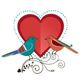 Lovebirds. Marriage, engagement ,couple,  love, valentine concept  copyspace for input Royalty Free Stock Photography
