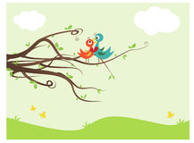 Lovebirds. Abstract illustration of family and love Royalty Free Stock Images