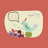 Lovebirds floral Card Template. Royalty Free Stock Photos