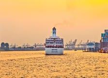 Loveboat sul fiume Fotografie Stock Libere da Diritti
