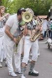 LoveBomb时髦的波特兰俄勒冈` s游行乐队 免版税库存照片
