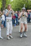 LoveBomb时髦的波特兰俄勒冈` s游行乐队 库存图片