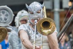 LoveBomb Идти-идет военный оркестр ` s Портленда Орегона Стоковое фото RF