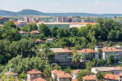 Lovech on View from the hill Hissar in Bulgaria Royalty Free Stock Photo