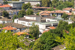 Lovech View from Mount Oreshak, Bulgaria royalty free stock image