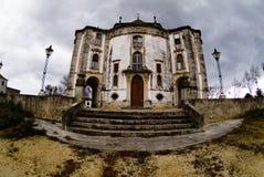 Lovecraftian kyrka, Obidos, Portugal arkivfoto