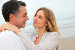 In loved couple on honeymoon Stock Photos
