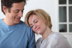 Loved up couple Royalty Free Stock Images