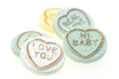 Loveheart sweets Royalty Free Stock Photos