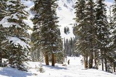 Loveland basin. Ski area in the Winter stock image