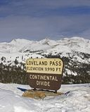 Loveland Pass. Winter at the top of the world Royalty Free Stock Photo