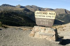 Loveland Pass - Colorado Stock Image