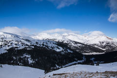 Loveland Pass in Colorado the Mountains stock photo