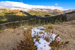 Loveland Pass Colorado. Panoramic View from the Loveland Pass Colorado royalty free stock photos