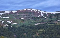 Loveland Pass, Colorado. Scenic view of the alpine landscape at Loveland Pass near Silverthorne, Colorado royalty free stock image