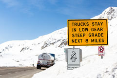 Loveland pass. Colorado, USA-March 15, 2015. Typical weekend at  on late Winter day royalty free stock photography