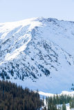 Loveland pass. Typical weekend at Loveland pass on late Winter day stock photos