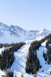 Loveland pass. Typical weekend at Loveland pass on late Winter day stock images