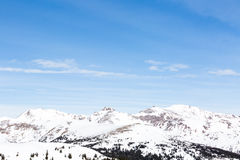 Loveland pass. Typical weekend at Loveland pass on late Winter day stock photo