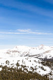 Loveland pass. Typical weekend at Loveland pass on late Winter day royalty free stock images