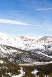 Loveland pass. Typical weekend at Loveland pass on late Winter day royalty free stock photos