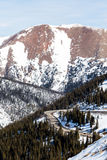 Loveland pass. Typical weekend at Loveland pass on late Winter day royalty free stock image