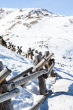 Loveland pass. Typical weekend at Loveland pass on late Winter day royalty free stock photo