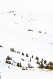 Loveland pass. Typical weekend at Loveland pass on late Winter day stock image