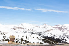 Loveland pass stock photography
