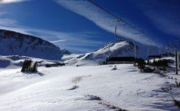Loveland skidar områdesskidlift royaltyfri foto