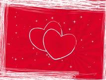 Loveletter do coração Ilustração Royalty Free