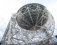 Lovell telescope. The Lovell Radio Telescope seen from below Stock Image