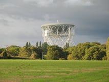 Lovell Teleskop, Jodrell Querneigung Stockbild