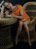 Lovelorn girl Stock Image