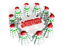 Lovely 3d christmas forest Stock Photography