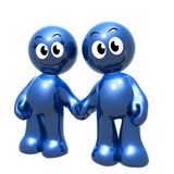 Lovely 3d icon couple holding hand. Illustration Royalty Free Stock Photo