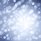 Lovely abstract motion blurred Xmas bokeh circles background Stock Image