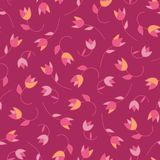 Lovely abstract vector floral seamless pattern tulips. Trendy hand drawn textures. Modern abstract design for, paper royalty free illustration