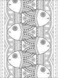 Lovely adult coloring page Stock Photos