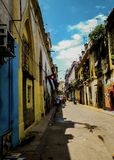 A lovely afternoon in some street of cuba royalty free stock photos