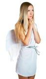 Lovely angel. On white background. Isolation Royalty Free Stock Image