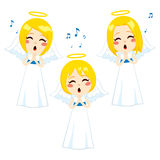 Lovely Angels Singing Royalty Free Stock Image