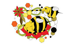 Lovely animation mutants of elephants bees Royalty Free Stock Photography