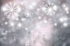 Lovely artistic snowflakes greeting card Stock Photography
