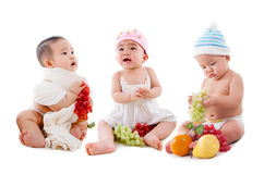 Lovely asian babies Royalty Free Stock Images